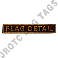 Ribbon Bar Attachment Flag Detail (Bronze)