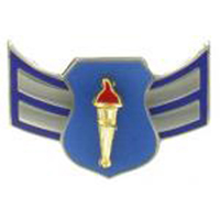 Airman 1st Class AFJROTC Pin on Rank (PR)