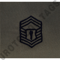 Senior Master Sergeant (SMSgt) ABU Rank JROTC Sew On (Pair)