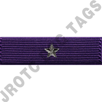 Purple with Star device ribbon award (each)