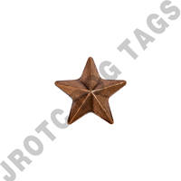 "Ribbon Attachment Bronze 1 Star 3/16"" (Each)"
