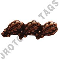 Bronze Oak Leaf 3 (each)